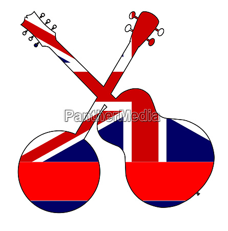 hawaii state flag banjo and guitar