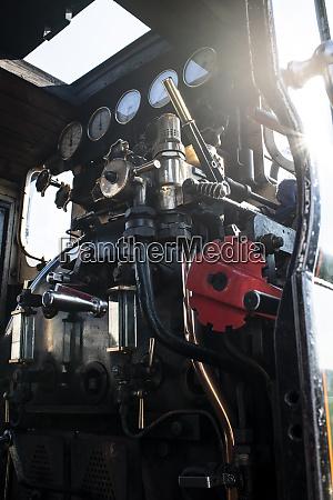 steam train engine control panel