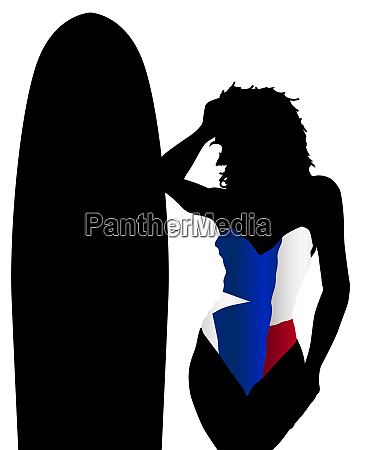 texas state flag swimsuit