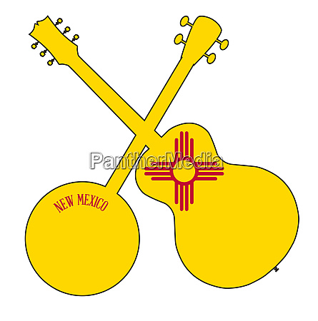 new mexico state flag banjo and