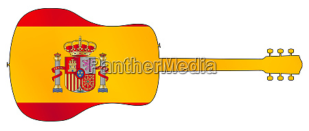 acoustic, guitar, silhouette, with, spanish, national - 27628933