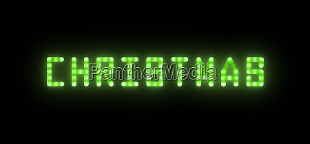green, neon, glowing, led, christmas, sign - 27628946