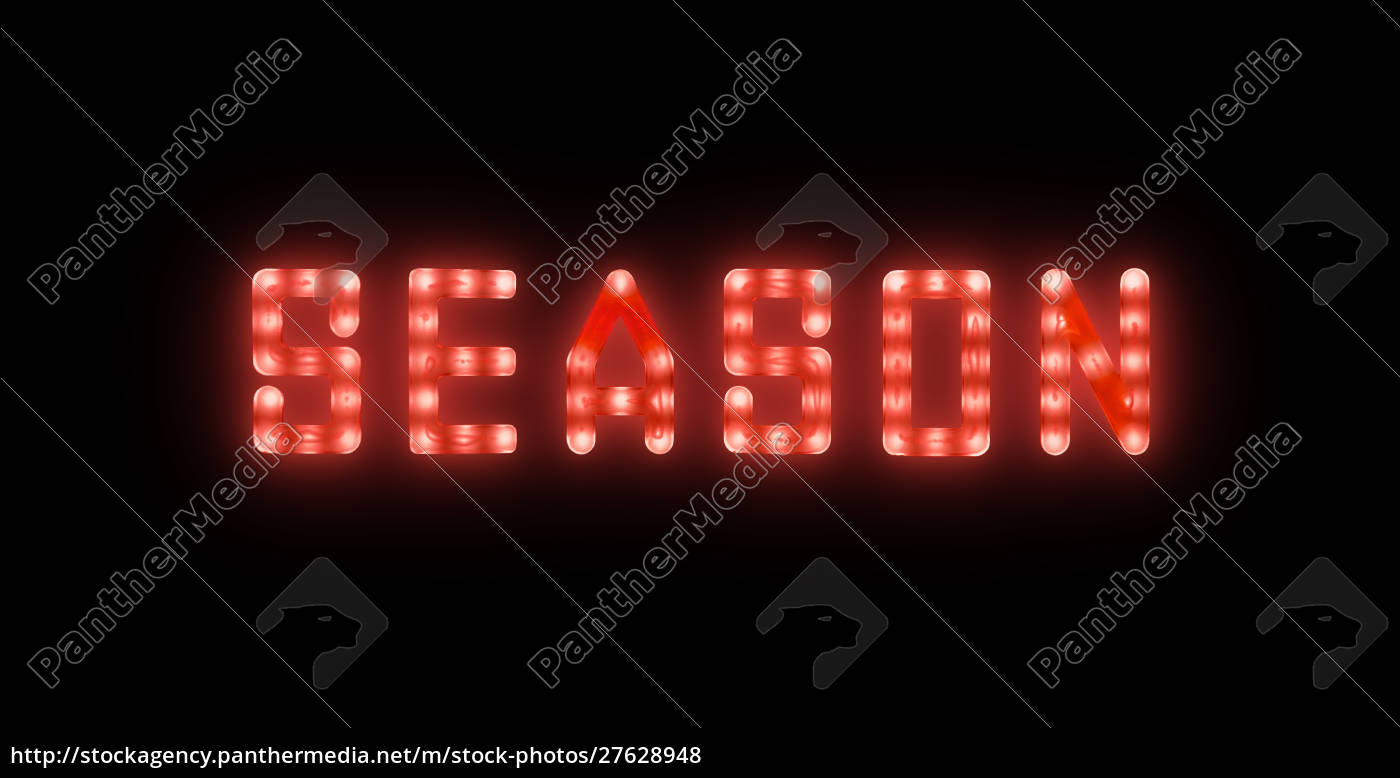 red, neon, glowing, led, season, sign - 27628948