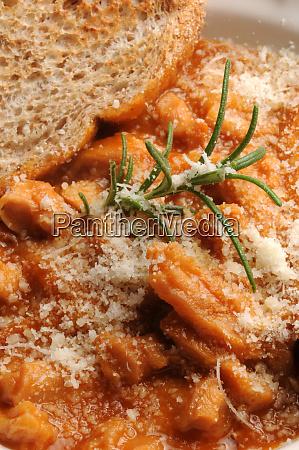 close up of parmigiana tripes with