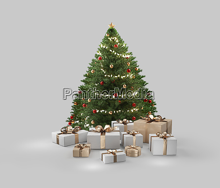 christmas gifts white golden presents design