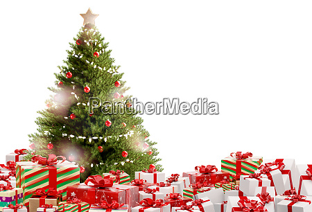 christmas gifts festive presents design 3d