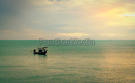 beautiful tropical sea in the morning