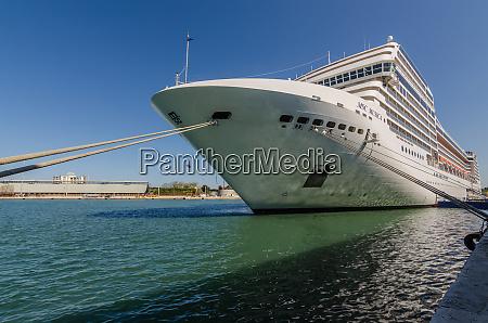 cruise ship at jetty