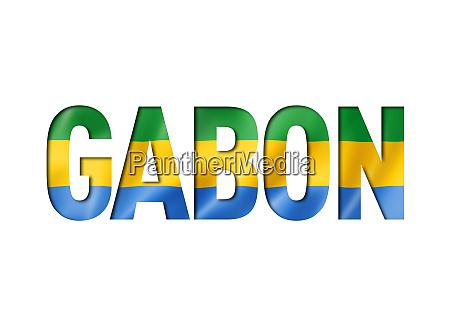 gabonese flag text font