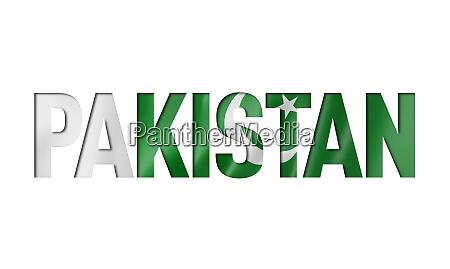 pakistan flag text font