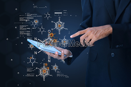 man showing research concept
