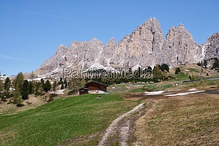 mountain landscape south tirol in summer