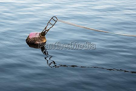 buoy in the river warnow in