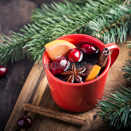 christmas mulled wine traditional festive drink