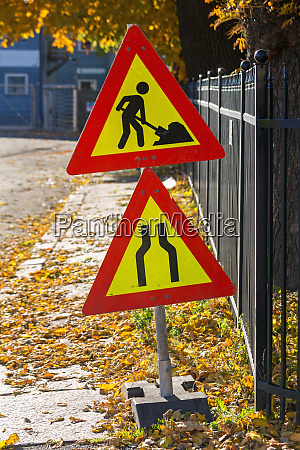 temporary road works