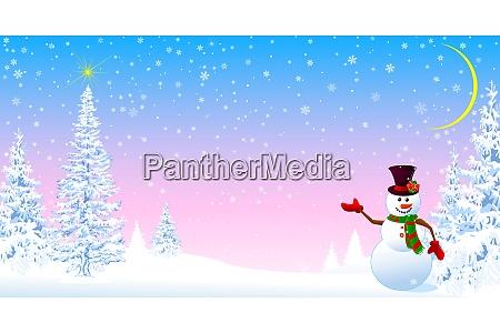 snowman welcomes christmas 1