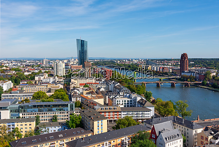 aerial, view, over, frankfurt, and, the - 27634813