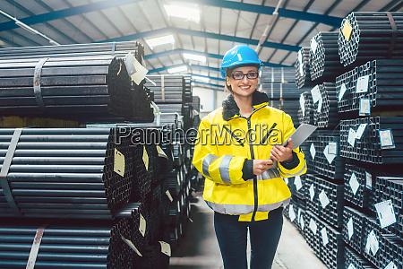 logistics for building materials woman