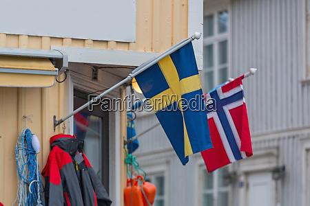 swedish norwegian flags