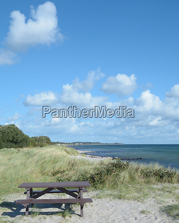 resting place at baltic sea on