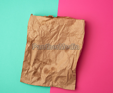 open brown paper bag for food