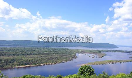 russia samara city great river volga