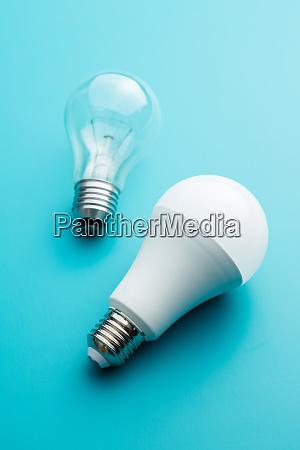 energy saving and classic light bulbs