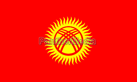 kyrgyzstan national flag