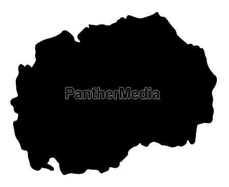 macedonia republic map silhouette