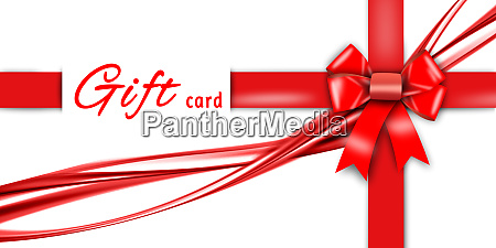 gift card red ribbon red loop