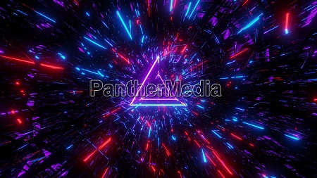 highly abstract desctroyed glowing 3d illustration