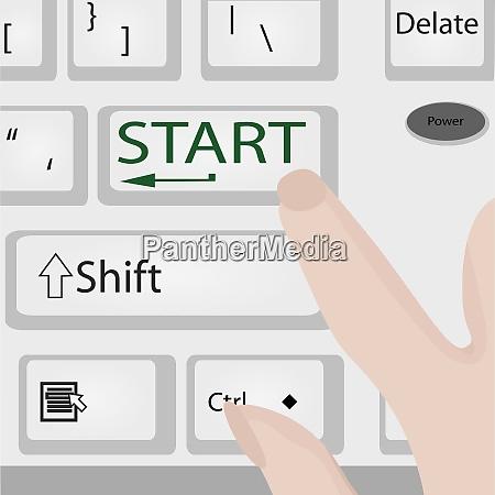 keyboard start power button