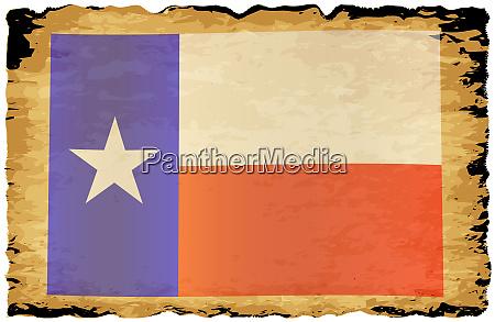 old parchment texan flag