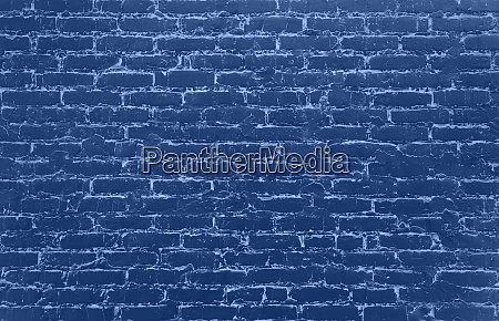 old blue painted grunge brick wall