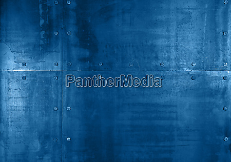 background texture of blue metal plates