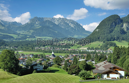 village of koessen in tirol austria