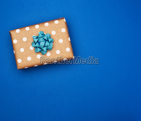 square brown box with white bow