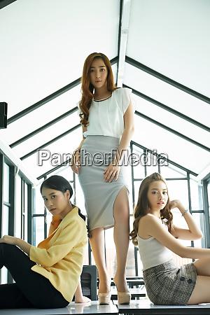 career woman team portrait