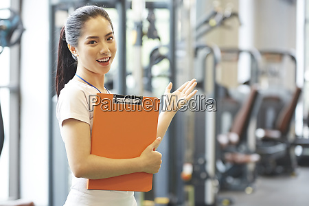 female fitness gym staff