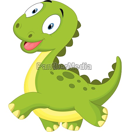 happy cartoon dinosaur