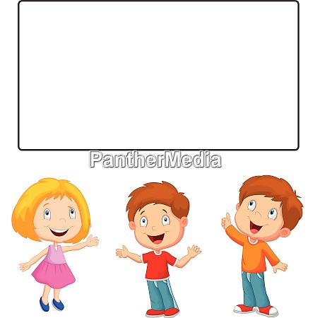 kids with blank sign