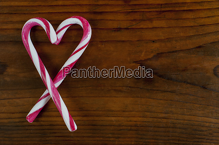heart shaped candy cane