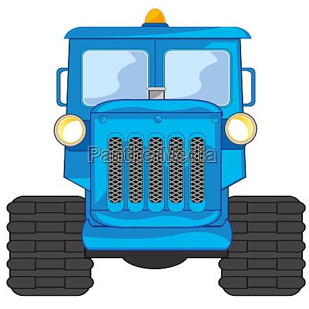 vector illustration of the cartoon blue