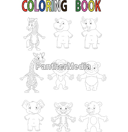 wild animal coloring book