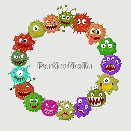 cartoon germ colony