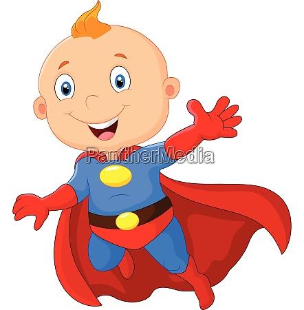 super hero babby fly