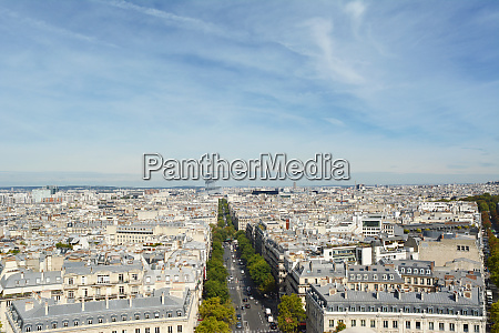 paris cityscape from the top of