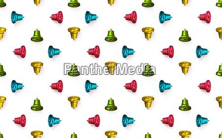 christmas bells decoration pattern 3d