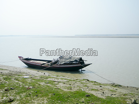 narrow fishing boat nautical vessel floating