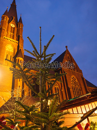 christmas market in a small german
